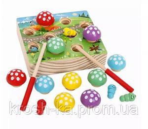 Игровой деревянный набор Сортёр с грибочками Китай WD2708