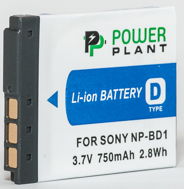 Aккумулятор PowerPlant Sony NP-BD1, NP-FD1 750mAh