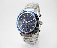 Годинник Omega Seamaster Professional Chronograph 43mm Silver/Blue. Репліка: AAA., фото 1