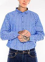 Мужские рубашки Gelix 1267003 в клетку сиреневые
