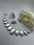 Комплект серебряных украшений Галька от Ирида-В, фото 2