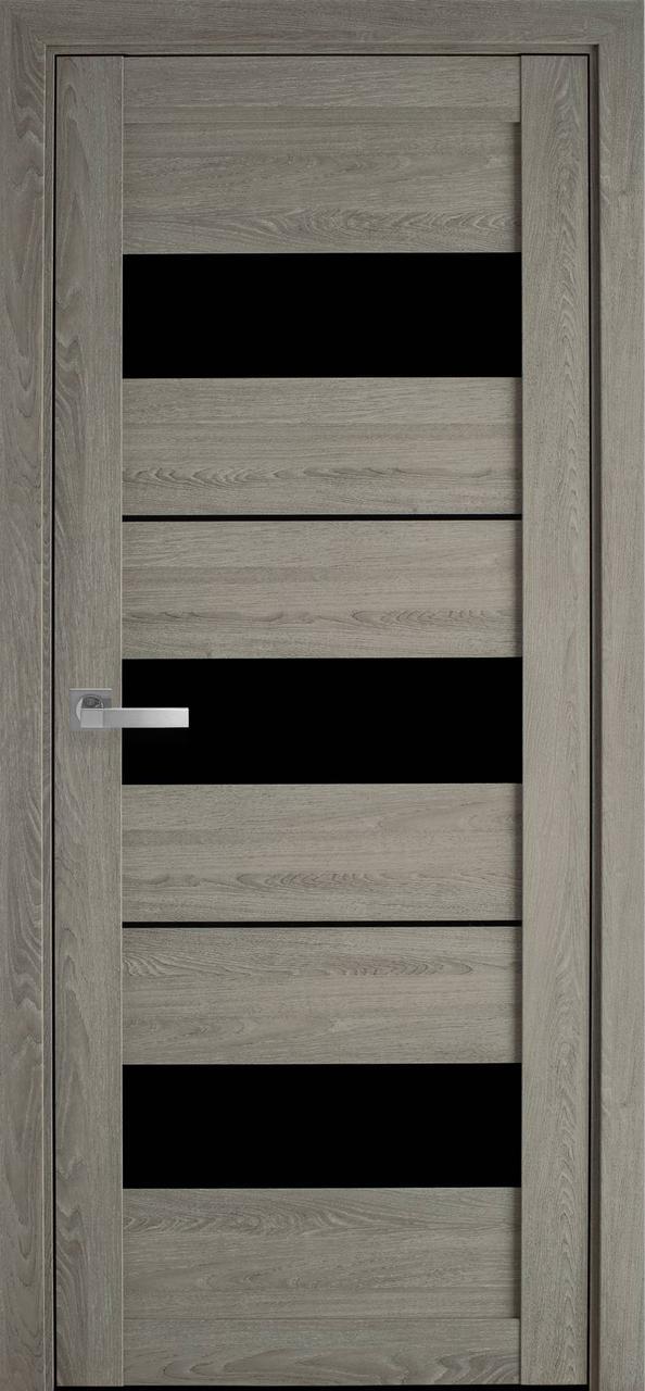 """Дверь межкомнатная """"Новый Стиль"""" модель Лилу, дуб дымчастый (со стеклом)"""