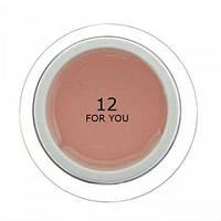 Гель для наращивания ногтей № 12 Молочно Розовый FOR YOU 15 мл
