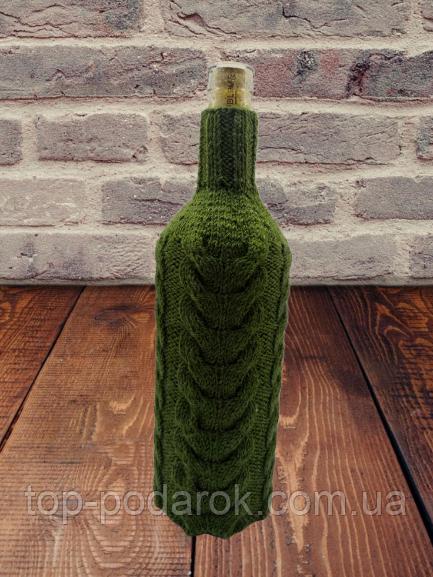 Декор вязанный чехол для бутылки вина,винный аксессуар