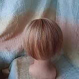 """Накладка из натуральных волос на макушку, моно-система Q-G 6""""-27, фото 4"""