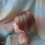 """Накладка из натуральных волос на макушку, моно-система Q-G 6""""-27, фото 3"""
