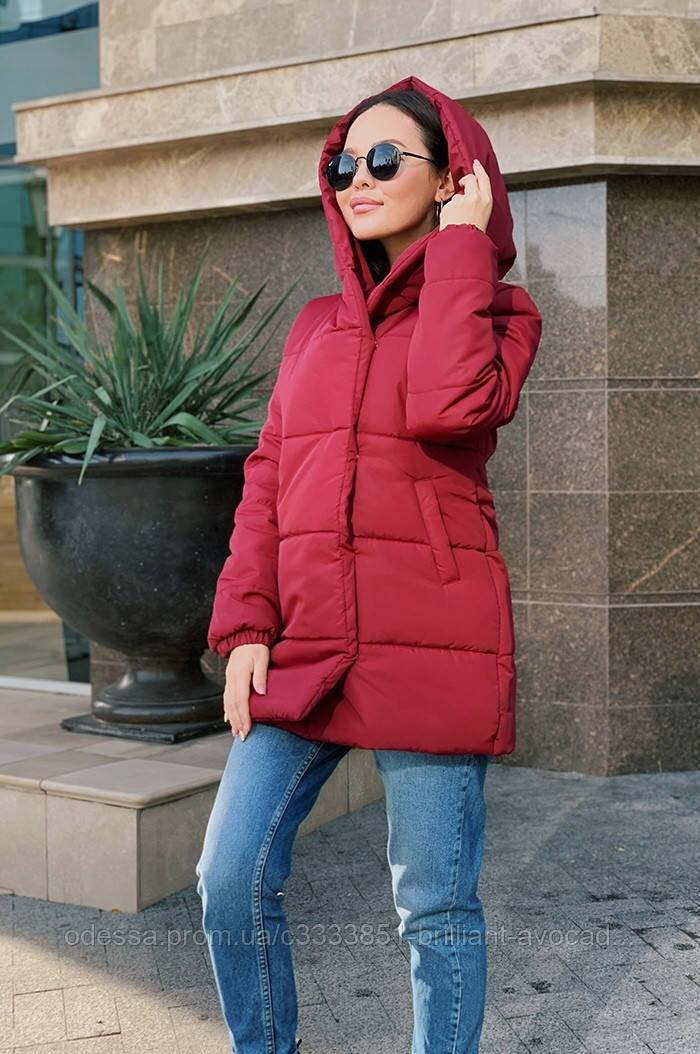 Женская модная длинная куртка зефирка пуховик