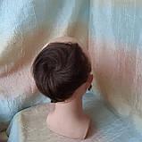 Шиньон из натуральных волос 2в1гулька накладка каштановый BL-A 4, фото 2