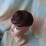 Шиньон из натуральных волос 2в1гулька накладка каштановый BL-A 4, фото 3