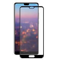 Защитное стекло Full screen PowerPlant для Huawei P20 Pro, Black