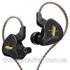 Навушники KZ ZS5 (EDX) з мікрофоном black