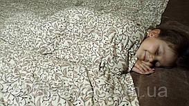 Полуторное утяжеленное одеяло. 130х180см, 5кг, с гречневой шелухой (лузгой).