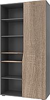 Шкаф с открытыми полками Intarsio Connect A правый Дуб Сонома Трюфель + Антрацит