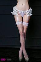 Нежный эротический комплект с поясом для чулок JSY 3684, Белый, S/M, Свадебное белье, фото 1
