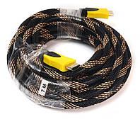 Відео кабель PowerPlant HDMI - HDMI, 7м, позолочені конектори, 1.3 V, Nylon