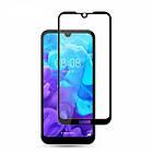 Защитное стекло Trusty Full glue Huawei Y5 (2019) Black