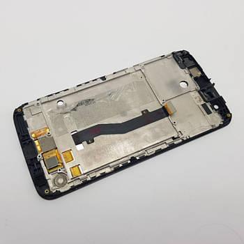Дисплей ZTE V8 Lite модуль черный Сервисный оригинал с разборки