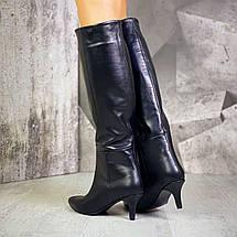 Стильные женские сапоги на низком каблуке 36-40 р, фото 3