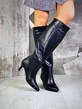 Стильные женские сапоги на низком каблуке 36-40 р, фото 2