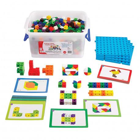 """Большой набор для класса """"Соединительные кубики"""" EDX Education"""
