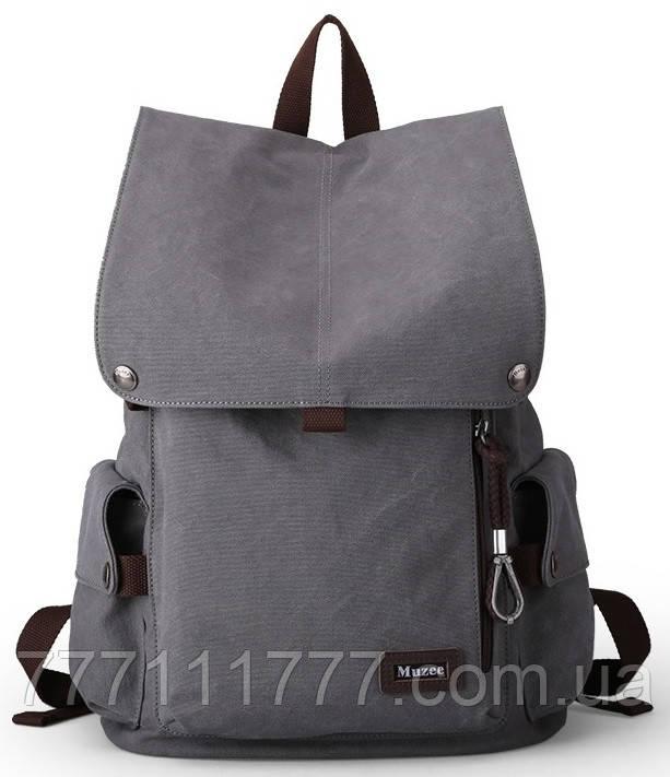 Фирменный городской рюкзак Muzee Retro VA1033 Grey оригинал (original)