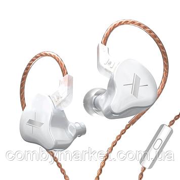 Навушники KZ ZS5 (EDX) з мікрофоном white