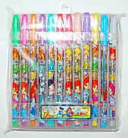 Гелевые ручки 24 цвета Винкс в блистере