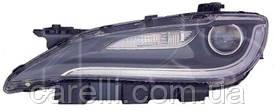 Фара левая хром вставка + LED для Chrysler 200 2014-17