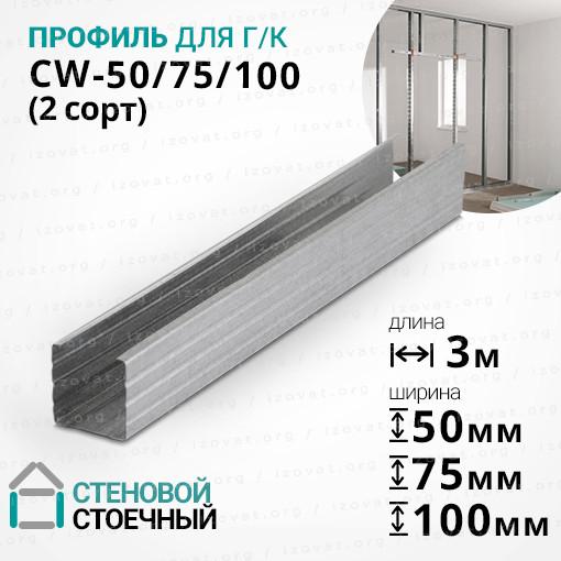 Профиль CW (ЦВ) 3 метра. Стеновой, стоечный (2 сорт)