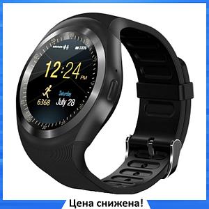 Умные смарт часы Smart Watch Y1S с слотом под SIM карту Черные
