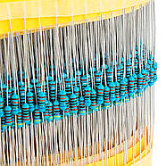 Набор резисторов 600 шт. 1/4W номиналом 10R - 1mOm, фото 3