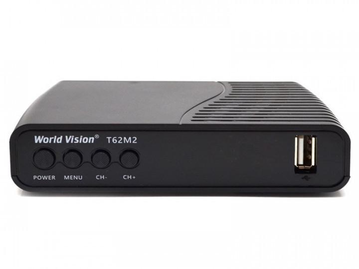 Ресивер World Vision T62D2 Цифровой эфирный DVB-C/T/T2 тюнер