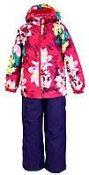 Комплект для девочек Huppa ТМ Хуппа Rех фуксия с принтом/тёмно-лилoвый 128 (45080014-91363-128)