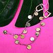 Длинные серебряные серьги с монетками - Серьги Монетки серебро - Серебряные серьги-висюльки, фото 2
