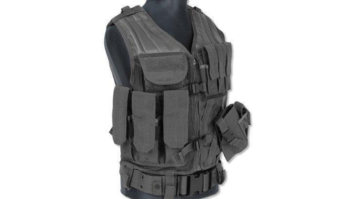 Mil-Tec - Tactical Vest - USMC - Black - 10720002