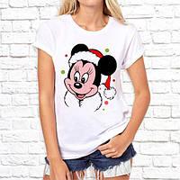 """Парные футболки с новогодним принтом """"Микки и Минни Маус"""" Push IT"""