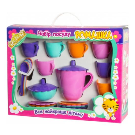 Игровой набор детской посуды Тигрес Ромашка 28 элемента от 3 лет
