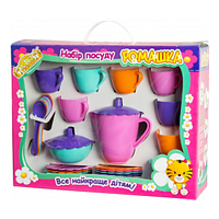 Набір іграшкової посуду Тигрес Ромашка 22 елемента