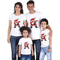 Футболки Фэмили Лук Family Look для всей семьи Дед Мороз Push IT