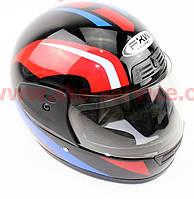 Шлем закрытый HF-109 M- ЧЕРНЫЙ с рисунком Q161