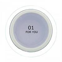 Гель для наращивания ногтей FOR YOU № 01 Прозрачный, 15 мл