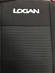 Чехлы на сидения Renault Logan (седан) (4 подголовника) (2004-2012) в салон (Favorit)