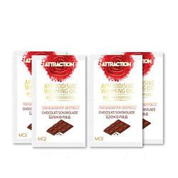 Пробник массажного масла с феромонами MAI PHEROMON MASSAGE OIL CHOCOLATE (10 мл) 18+