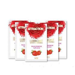 Пробник лубриканта с феромонами MAI ATTRACTION LUBS STRAWBERRY (10 мл) 18+