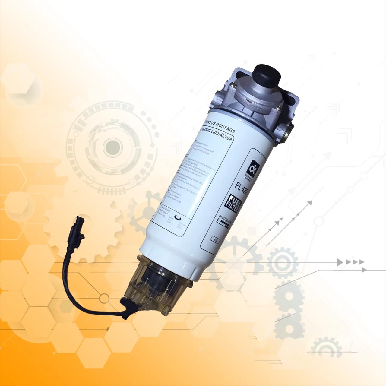 Элемент фильтра топлива с крышкой-отстойником с подогревов DAF ,MAN ,МАЗ ,КАМАЗ