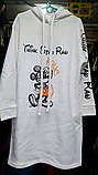 Теплое платье-туника из трехнитки 23-615, фото 4