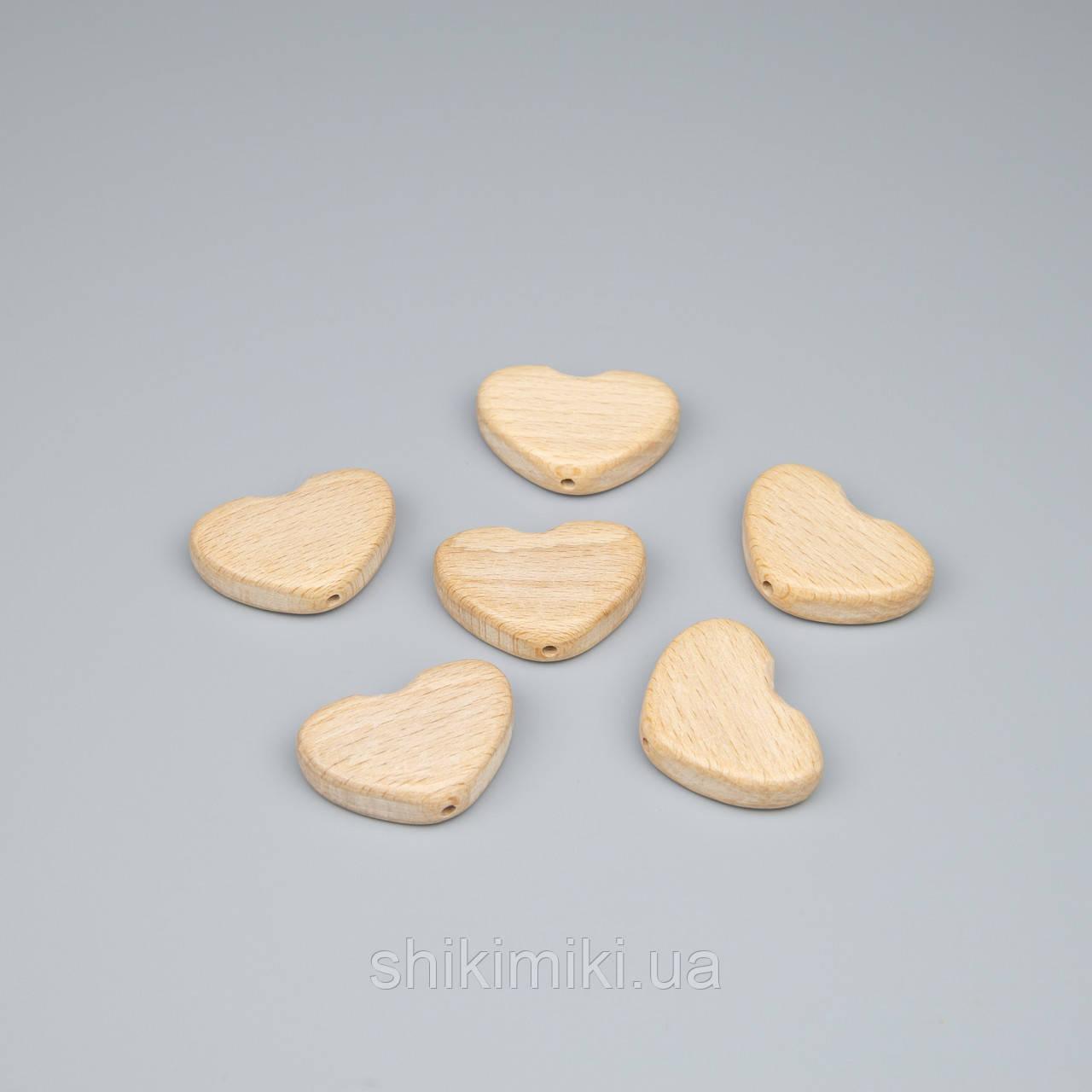 Бусины-сердечки 27*40 мм , отверстие 3 мм