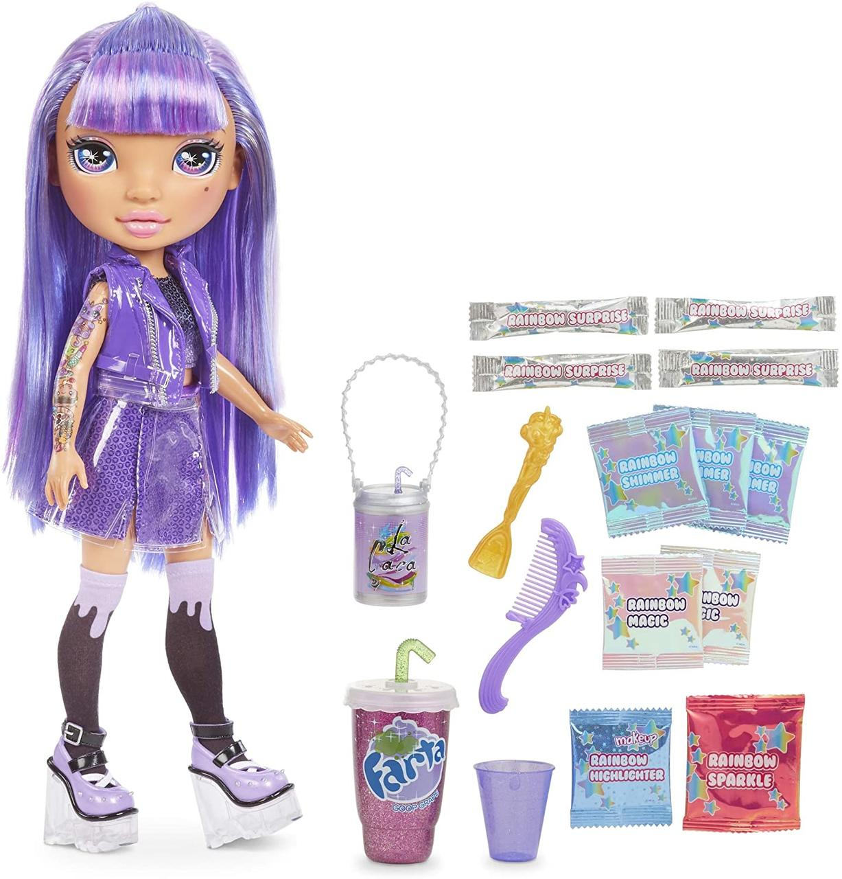 Набор с куклой Пупси Фиолетовая Аметист со слаймами Poopsie Rainbow Surprise Amethyst Оригинал из США