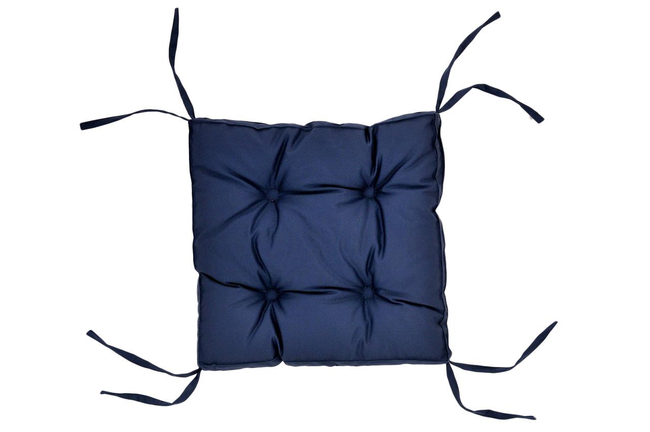Подушка на стілець DOTINEM COLOR синя 40х40 см (213109-2)