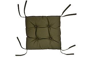 Подушка на стілець DOTINEM COLOR хакі 40х40 см (213109-5)